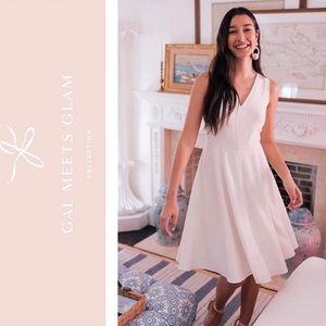 Gal Meets Glam Kendra Dress Cream NWT